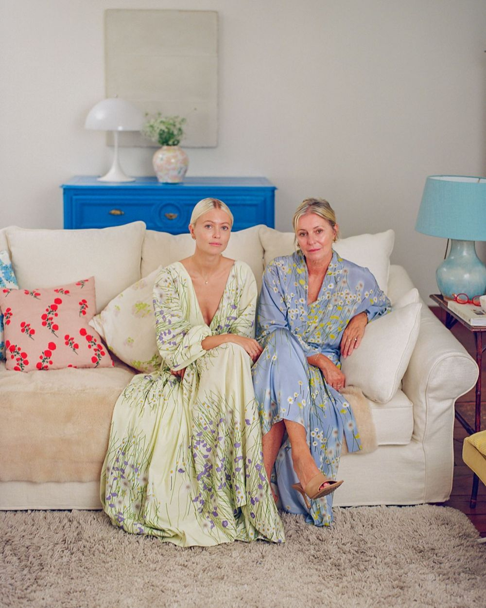 My mother and I were photographed for the launch of our homeware collection @harrods.  Thank you to the Harrods team for this opportunity ~ we're beyond thrilled to be represented by a store we have so many fond memories of. Make sure to visit Harrods to discover their exclusive mint colourway!  Photo by @evadonckers