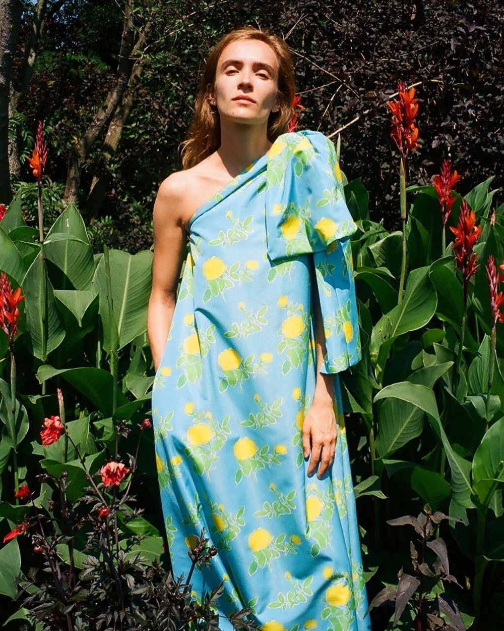 THE ESCAPE ~ ANALOG PHOTOS SHOT BY CHARLOTTE ~ LYNN WEARING THE BLUE WINNIE DRESS. 🌿🌼🦋 Now available at selected stores worldwide. #HS20