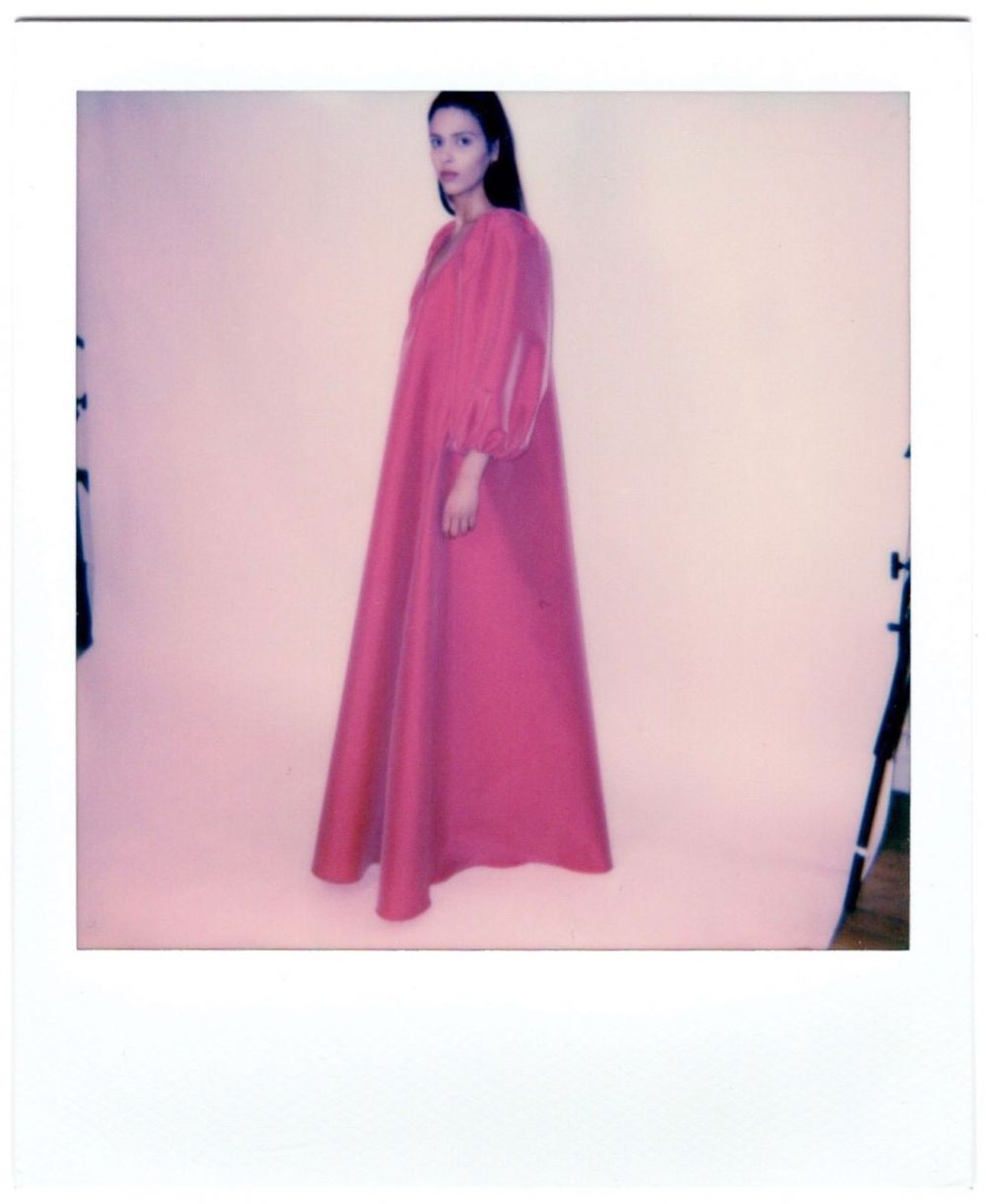 ♥️PRESPRING21 COLLECTION LAUNCHING AT SELECTED STORES WORLDWIDE.♥️ Polaroids taken from our Paris Pre-quarantaine showroom last March. Seems so long ago.💭 THE GEORGE DRESS. #PS21