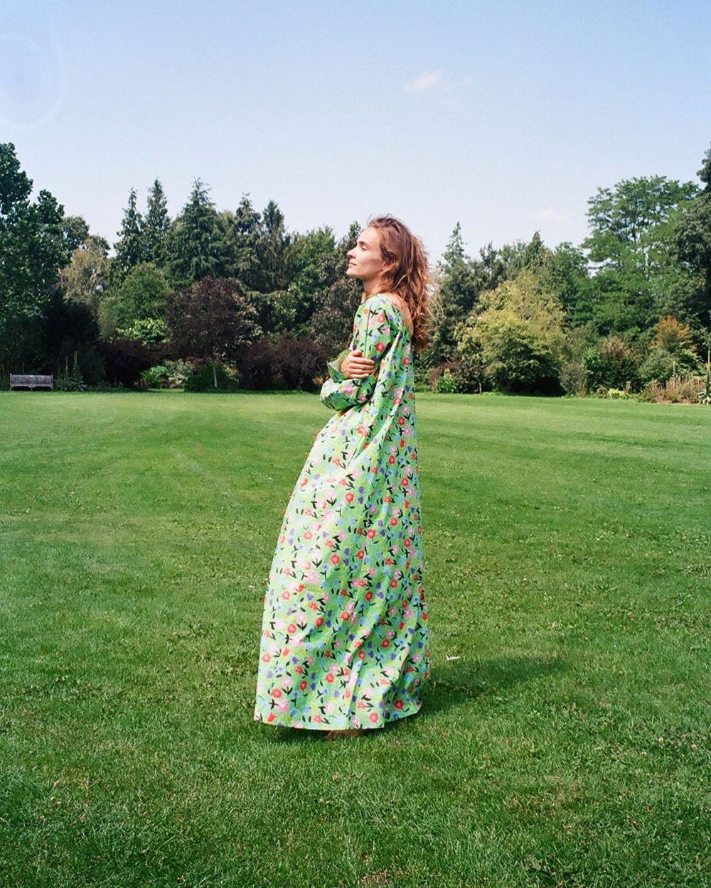 THE ESCAPE ~ ANALOG PHOTOS SHOT BY CHARLOTTE ~ LYNN WEARING THE GREEN KATHERINE DRESS. 🌿🌳🌻 Now available at selected stores worldwide. #HS20