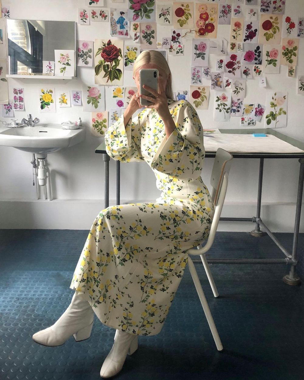 MOOD BOOSTING WINTER WHITES. 🤍  'The only way for me to get through Winter is to wear a lot of colour, and fresh ivory tones ~ Colors to lighten up the grey days.'  Charlotte wearing the Miranda dress ~ available at selected stores worldwide and on our webshop. #PS21