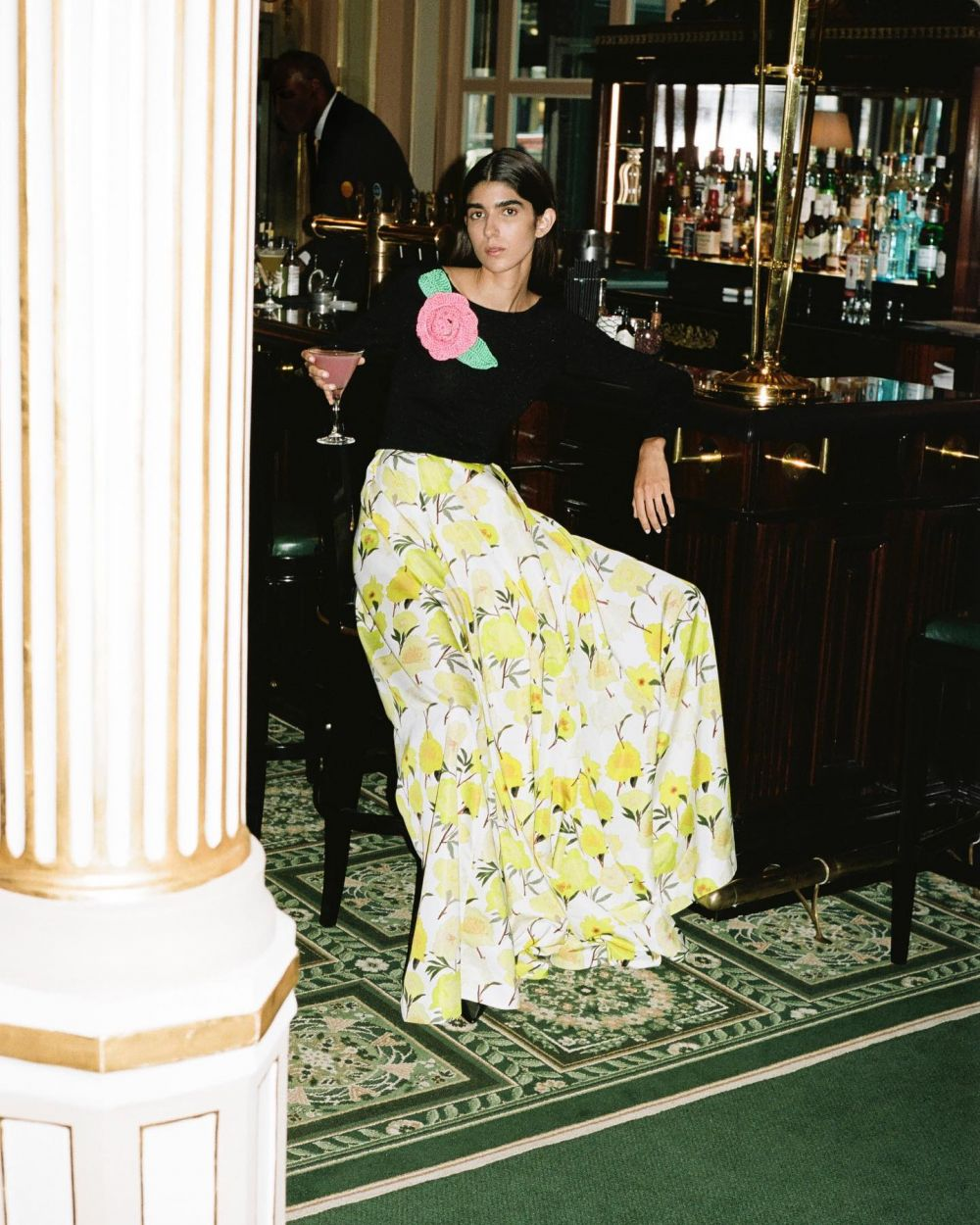*if we would dress Carrie Bradshaw  With Rebeca wearing the Kaia top and Kennedy skirt printed with yellow peonies. Followed by Maty wearing the embroidered short dress Anne and Rebeca wearing the Birgit dress.  Pre-order pieces from the campaign now on our webshop. Link in bio. #SS22