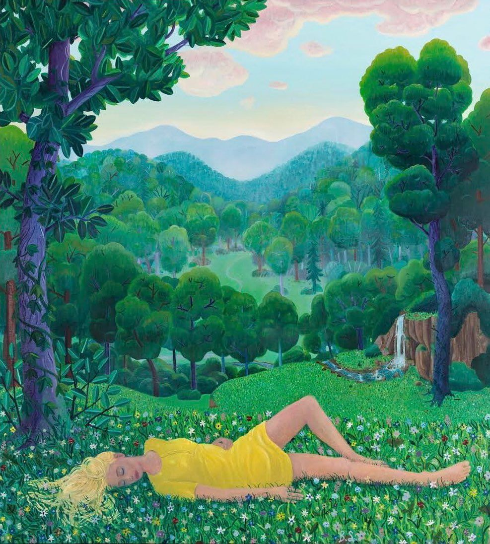 IN HONOUR OF V-DAY, I WANTED TO SHARE ONE OF MY FAVORITE PAINTINGS BY MY LOVE @bensledsens. ❤️  'Girl Lying in the Grass' 2019 - 2020 230 x 210 cm