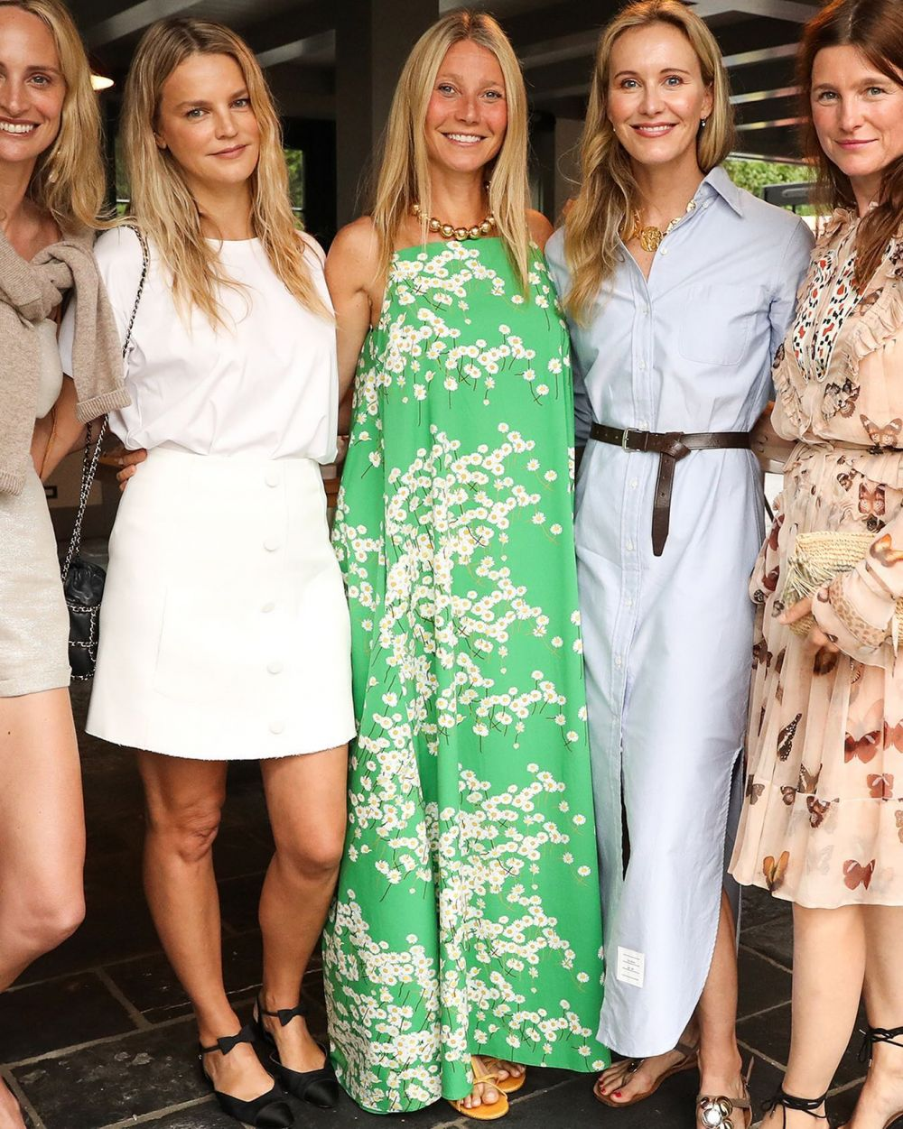 GWYNETH PALTROW WEARING OUR AUDREY DRESS. 💚  Pinch me, did this happen?  As you may know we have inspired multiple styles by her iconic looks through the years ~ now it has come full circle.  My mum and I are beyond proud. 🤍