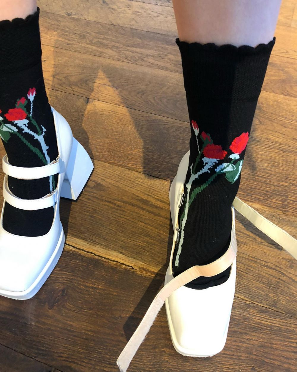 🌹 EXCITING NEW THINGS COMING. 🌹~ Preview of our rose socks! #PS22  Showing the new collection 1-7 March.  For wholesale enquiries please contact renske@parrotagency.com  For press enquiries please contact sszymura@l52.co.uk  Can't wait to show you more! ❤️