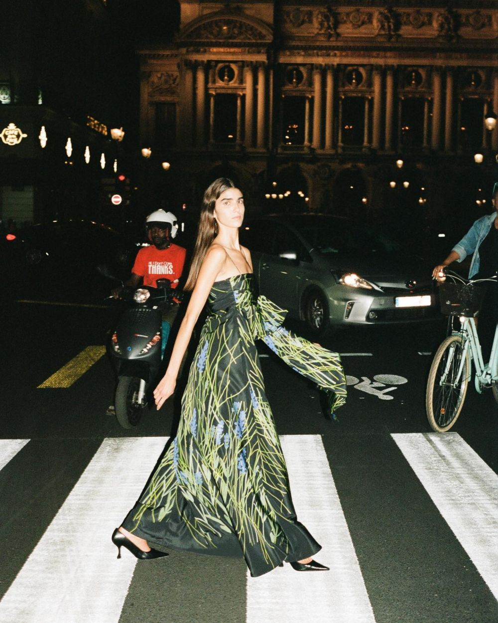 LATE NIGHT STROLLS THROUGH PARIS DONE THE BERNADETTE WAY ~ This SS22 collection we invite you to fantasize about your dream holiday, the BERNADETTE journey has only just begun.  Model @rebecasolana_  Photography @jonasunger  Art direction and styling @gijsjeribbens  Hair/Makeup @suzanneverberk  Production @annegoossens_com  Light assistant @paul.lehr  Styling assistant @santos_stylisme  The SS22 collection will be available in March/April and is now available for pre-order at BERNADETTEANTWERP.com.